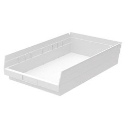 "Optional Shelf Bin: Qty/12. Inner: 16-1/2"" x 10"" x 4"" Color: White"