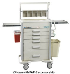 Preferred Elite Hybrid Anesthesia Cart Accessory Package: PAP-B