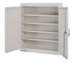 "Accessory: Top locker cabinet, 4 adjustable shelves, 24"" W x 8"" D x 30"""
