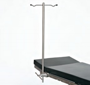 Rigid I.V. Pole; Stainless Steel 1/2