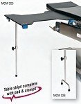 Hourglass Carbon Fiber Arm/Hand Surgery Table with Single Post leg & 2