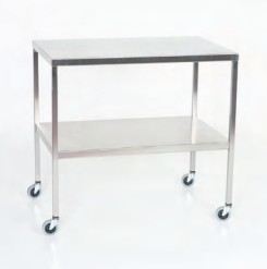 Stainless Steel Instrument Table/Back Table with Shelf; 16