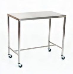 "Stainless Steel Instrument Table/Back Table: 16"" W x 20"" L x 34"""