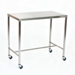 "Stainless Steel Instrument Table/Back Table: 16"" W x 30"" L x 34"""