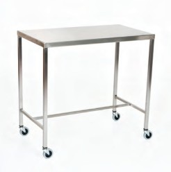 "Stainless Steel Instrument Table/Back Table: 20"" W x 48"" L x 34"""