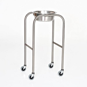 "Single Bowl, Stainless Steel Solution Stand with H-Brace  15"" x 18"" x 34"""