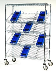 Slanted Shelf Suture Carts: Dimensions: 18
