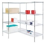 Round Post Wire Shelving Add-On Units: Add-On Kit; dimensions: 24