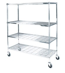 "Square Post Wire Carts: Dimensions: 18"" D x 72"" L x 70"" H"