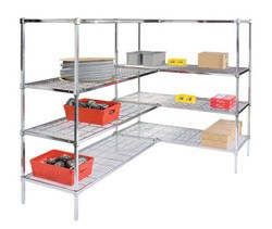 Square Post Wire Shelving Add-On Units: Add-On Kit; dimensions: 24