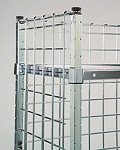 Post Attached Enclosure Panels. Converts open carts to 3-sided enclosed units. Dimensions: 18