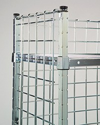 "Post Attached Enclosure Panels. Converts open carts to 3-sided enclosed units.  Dimensions: 18"" D x 36"" L x 78"" H"