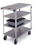 Stainless Steel Multi-Shelf Cart: 4 shelf; 18