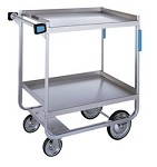 Utility Cart - Angle U- Frame Design - Stainless Steel: 2 shelf; 15-1/2