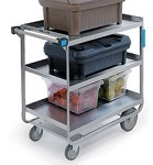Utility Cart - Angle U- Frame Design - Stainless Steel: 3 shelf; 15-1/2